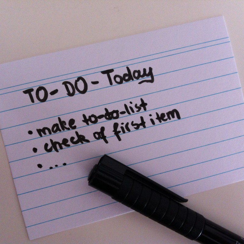 How to effectively make and use a To-Do list